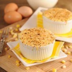 Savory corn creme brulee