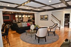 Idea: paint the frames in the basement ceiling