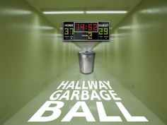 """Steve Surine of Oakwood Bible Students submitted this game his group plays. It sounds fun. Here are the instructions straight from Steve. We call this game """"Hallway Garbage Ball"""" but I've also hear. Youth Group Rooms, Youth Ministry Games, Youth Group Activities, Youth Camp, Activities For Teens, Games For Teens, Ministry Ideas, Youth Group Ice Breakers, Group Ice Breaker Games"""