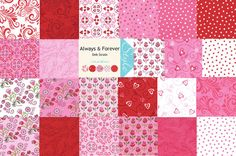 Always & Forever  Jelly Roll 42   25 Inch by CuddlyQuiltsByDesign, $35.00