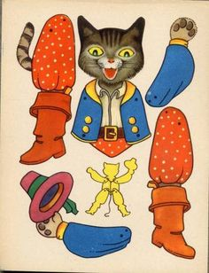 Gestiefelter Kater http://www.pinterest.com/pearlswithplaid/paper-dolls-for-real/
