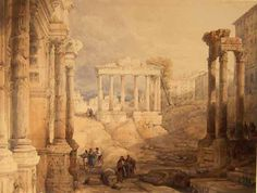 The Forum, Rome Acknowledgement: © Manchester City Galleries Created by: David Roberts (artist) Created: 1835