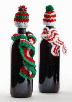 Crochet Wine Bottle Hats