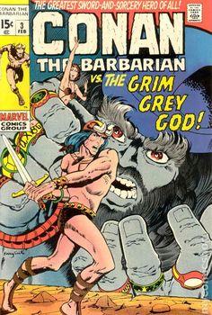 conan the barbarian comic book covers marvel | Conan the Barbarian (1970 Marvel) comic books