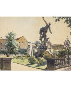 ALEXANDRE BENOIS (RUSSIAN 1870-1960)ALEXANDRE BENOIS (RUSSIAN 1870-1960) Salzburg, 1932 watercolor on paper 20 x 26 cm (7 7/8 x 10 1/4 in.)
