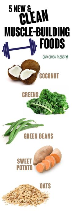 Natural plant based diet: muscle-building foods