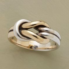 Tie The Knot Ring:) Silver and Gold, Must use!!!!