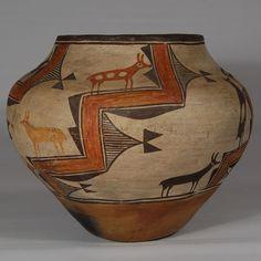 Zia Pueblo Exquisite Olla with Impeccable Documentation, Reyes Ansela Shije Herrera (ca. 1865-1957)