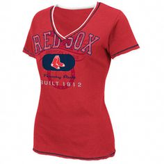 Boston Red Sox Women's Red Nice Hit Fashion Top