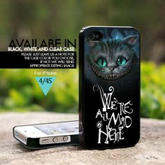 Alice Were All Mad Here Custom - For iPhone 4/4s Case, Hard Cover