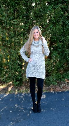 Leggings are perfect for over-sized sweaters!