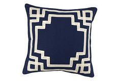 Corner Navy pillow from Kings Lane