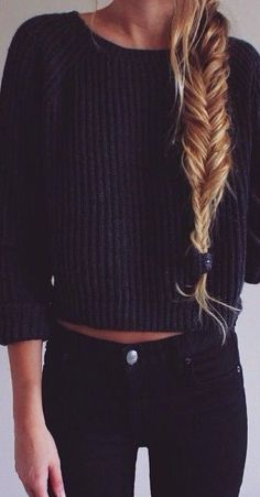 Fishtail braid and sweater