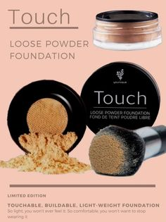 Shake up your makeup with Touch Loose Powder Foundation. The buildable powder conceals imperfections without feeling cakey or heavy. It's beautiful coverage & seamless, smooth color leaves you with natural-looking yet radiant skin. #Younique #ClickImageToShop #Questions #EmailMe sarahandbrianyounique@gmail.com