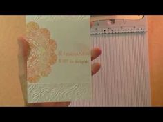 Bigshot Embossing Folder Techniques - Part One - YouTube