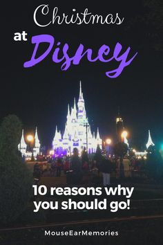 Are you thinking about a Christmas time trip to Disney World? Here's 10 important reasons you should plan your next trip during the holidays at Disney! #disney #disneyworld #christmas