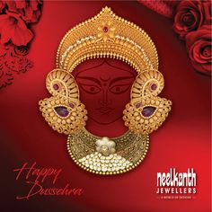 Happy Navratri Images, Navratri Festival, Durga Images, Navratri Special, Jewelry Ads, Jewellery Sketches, Emerald Jewelry, Indian Jewelry, Ring Designs