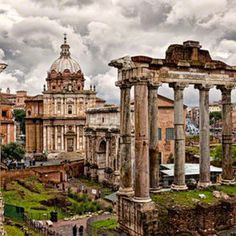 Ancient Roman Forum Rome, Italy - waked all the ancient sights in Rome. Delicious history, romance, and stunning architecture