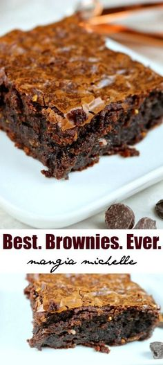 Follow 5 simple steps to make the best brownies ever ~ www.mangiamichelle.com