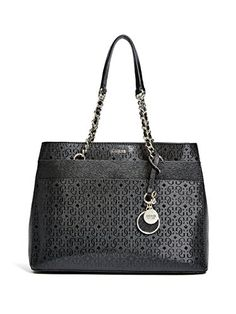 a25c8bf019 GUESS Women s Janette Girlfriend Satchel Black Handbag  Handbags  Amazon.com
