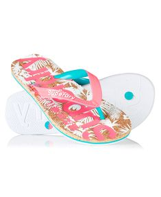 Superdry women's printed cork flip flops. A pair of flip flops featuring a cork insole with contrast coloured Superdry logo prints. The upper straps are textured and are finished with an embossed Superdry logo print. Pink Sandals, Pink Shoes, Shoes Sandals, Womens Flip Flops, Online Fashion Stores, Superdry, Flipping, Flip Flop Sandals, Ebay