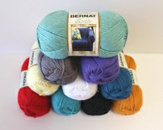 Win an assortment of Bernat Satin yarn. This luxury worsted weight yarn is perfect for practically any crochet project. Giveaway compliments of Bernat and AllFreeCrochet.