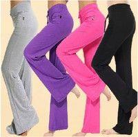 Womens Soft Comfort Cotton Spandex Yoga Sweat Lounge Gym Sports Athletic Pants Features: Size:M/L/XL