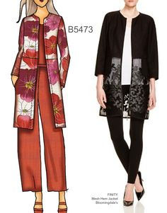 Sew the Look: Butterick B5473 collarless jacket pattern                                                                                                                                                     More