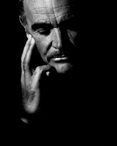 Sean Connery by Herb Ritts-a fantastic hand pose and love the semi split lighting