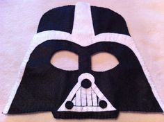 Darth Vader felt mask #starwars #darthvader #feltmask www.facebook.com/ateliervivifezarte