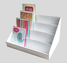 Greeting card display stand. I could make this