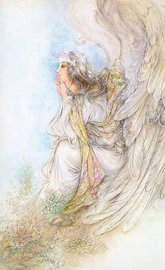 Iran Politics Club: Mahmoud Farshchian Online Gallery Persian Miniature Paintings - Ahreeman X Angel Drawing, I Believe In Angels, Iranian Art, Angels Among Us, National Art, Learn Art, Guardian Angels, Angel Art, Islamic Art