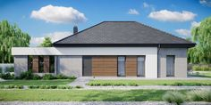 DOM.PL™ - Projekt domu CPT HomeKONCEPT-31 CE - DOM CP1-34 - gotowy koszt budowy Villa Design, House Design, House Construction Plan, Bungalow, Garage Doors, New Homes, Layout, Exterior, Outdoor Decor