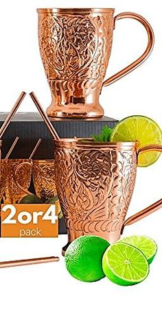 Want to drink to your health? Get the copper drink ware to help you feel better. Moscow Mule Mugs Pure Copper Straw Stir Sticks (Set of 4) Embossed Craftsmanship Copper Mugs for Crisp Cocktails, Juleps & Russian Mules. Copper Kills Bacteria. Prevents water-borne diseases.Helps With Arthritis & Joint Pain. Slows Down Aging. Copper fights off free radicals & helps in the production of new and healthy skin cells. Beneficial For Weight Loss. Brain Stimulation. Maintains Heart Health. Get…