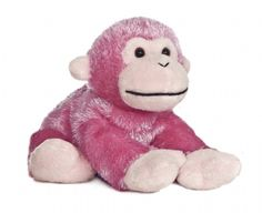 Jungle Brights Pink Monkey (Mini Flopsie) at theBIGzoo.com, an animal-themed superstore.