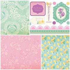 Add some elegance to your craft projects with these Vintage Lace papers!