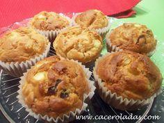 Caceroladas: Muffins salados de calabacín, bacon y queso