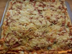 Pizza těsto z domácí pekárny-2 kusy Pizza, Lasagna, Quiche, Breakfast, Ethnic Recipes, Food, Lasagne, Breakfast Cafe, Essen