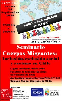 Seminario Nacional que aborda irregularidades contra inmigrantes al ingresar a Chile.