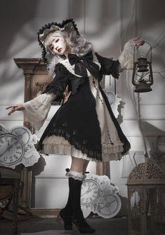 Reminder: There're still 3 Lost Tree 【-Die Zeithexe-】 Lolita Jumper Dresses Available for Preorder! Reminder: There're still 3 Lost Tree 【-Die Zeithexe-】 Lolita Jumper Dresses Available for Preorder! ◆ Shopping Link >>> www. Harajuku Fashion, Kawaii Fashion, Cute Fashion, Mode Mori, Mode Outfits, Fashion Outfits, Mode Lolita, Lolita Style, Estilo Dark