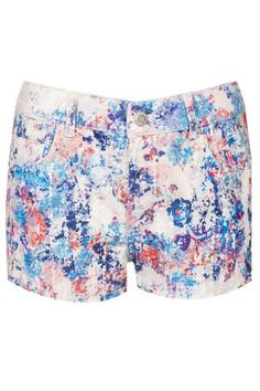 MOTO Floral Denim Hotpants - New In This Week - New In