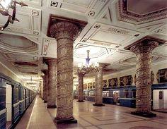Subway station St. Petersberg, Russia