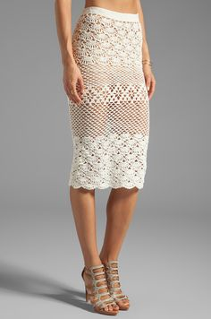 Spell & The Gypsy Collective Coconut Crochet Skirt em Branco | REVOLVE