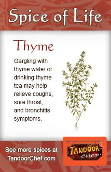 #Thyme - Used in both food and beverage #recipes. #IndianCuisine #Glossary