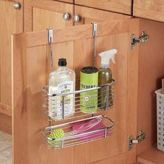 """Promising Review: """"It's perfect for my under-sink cabinet door. Very sturdy and well made. Cabinet still closes smoothly. I place dishwasher tablets in the top and unused scrub pads in the tray below. It's a great size, not too big, pretty much just right."""" —Miki BabyGet it on Amazon for $14."""