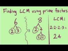 The Least Common Multiple (LCM) -- Part 1 of 2 ~ Understanding How to Find the LCM Will Make Adding and Subtracting Fractions with Unlike Denominators a Breeze. Simplifying Fractions, Math Fractions, Fractions Worksheets, Multiplication, Maths, Least Common Multiple, Adding And Subtracting Fractions, Teaching Math, Teaching Strategies
