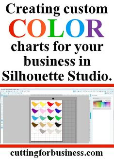 How to create custom color charts in Silhouette Studio (Tutorial)- by http://cuttingforbusiness.com