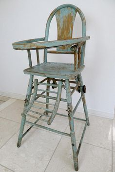 French antique baby chair ¥