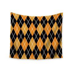 """KESS Original """"Argyle - Night"""" Wall Tapestry"""
