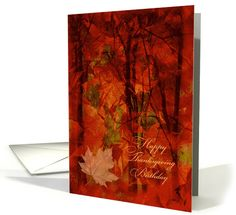 Thanksgiving Birthday Autumn Foliage card